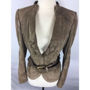 4daa3b965 Gucci Jackets & Coats - Gucci Suede Leather Belted Jacket 1607-25-9718